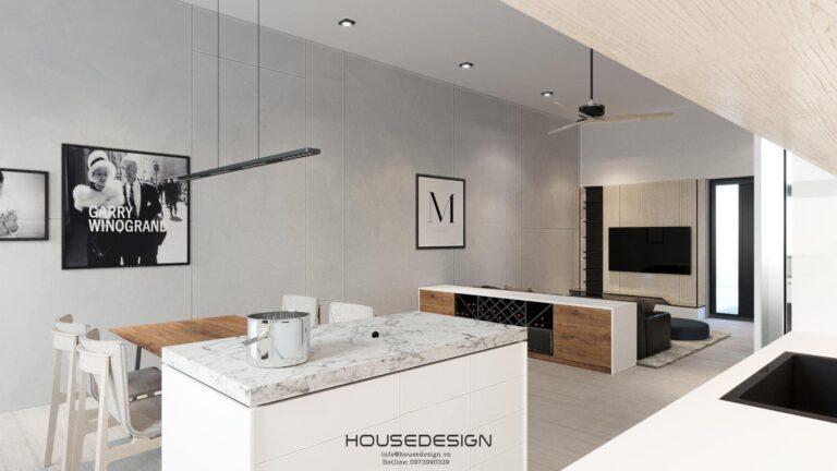 Thiết kế nội thất nhà phố Palm Residence