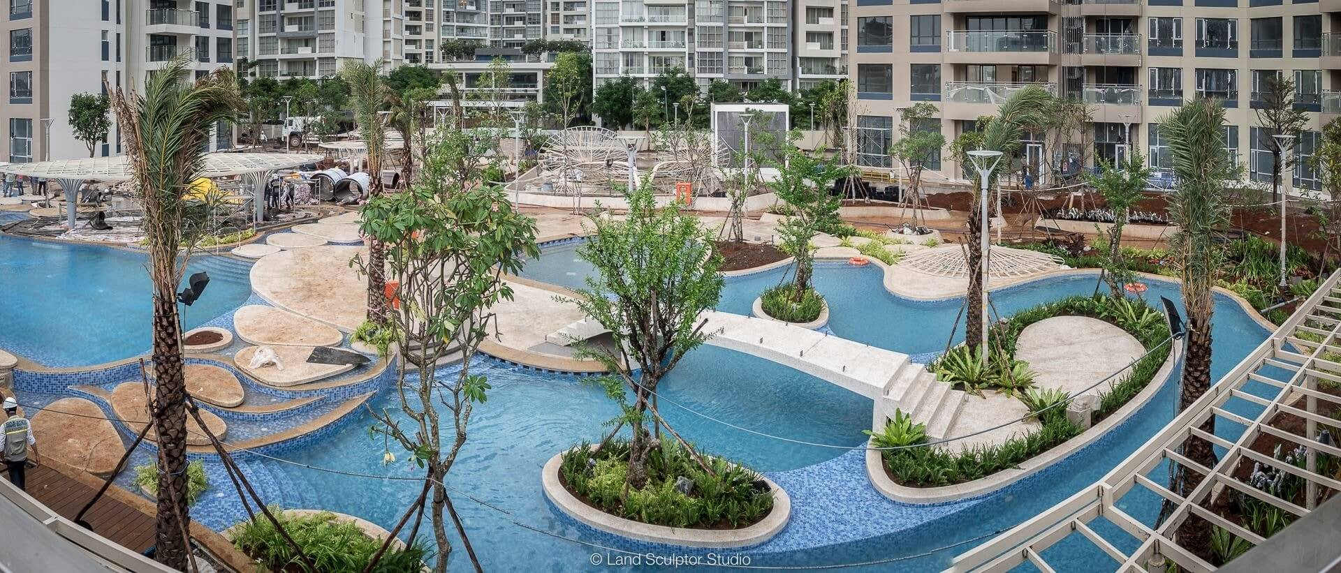 Thiết kế nội thất biệt thự Palm City cao cấp