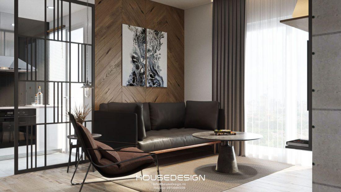 mẫu thiết kế nội thất căn hộ 60m2 đẹp