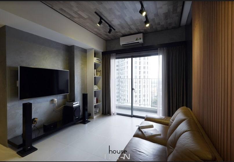 mẫu thiết kế nội thất căn hộ 65m2 2 phòng ngủ
