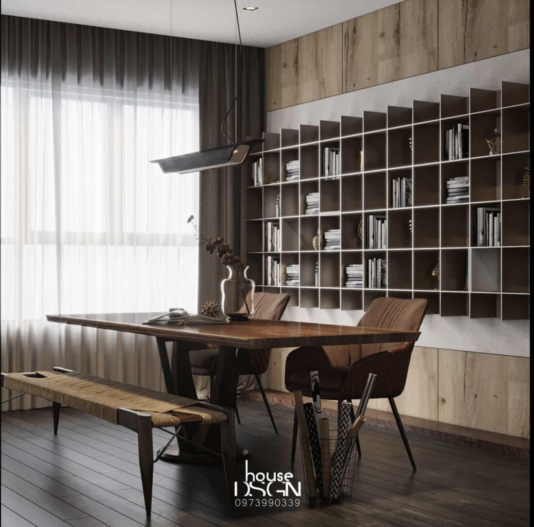 mẫu thiết kế nội thất căn hộ chung cư 70m2