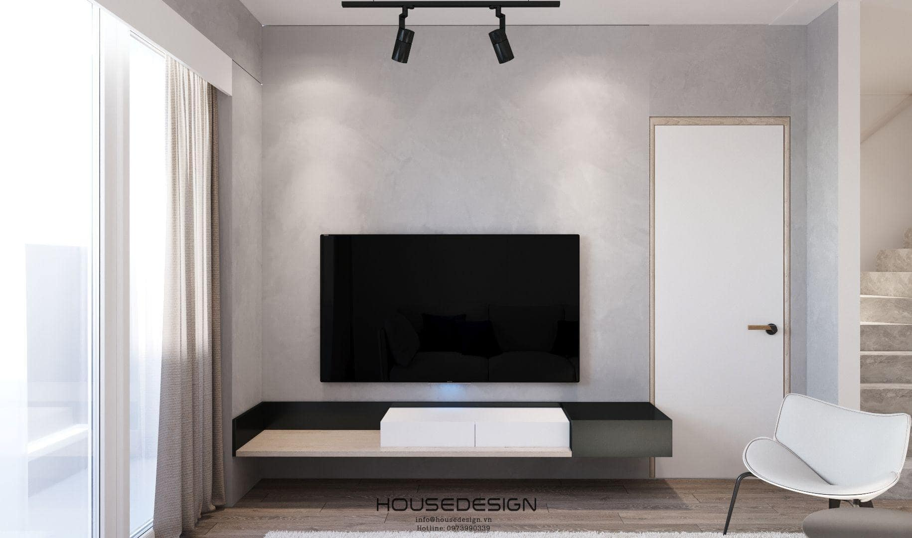 Thiết kế nội thất căn hộ Palm Heights chuyên nghiệp