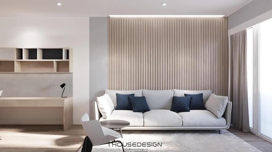mẫu thiết kế nội thất chung cư 52m2