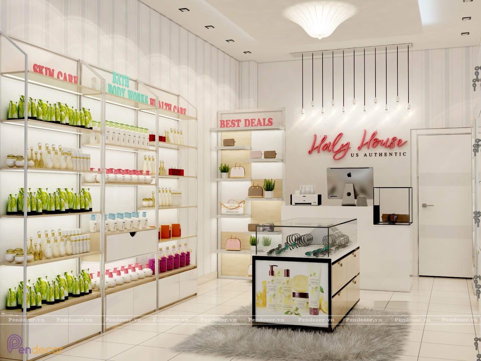 mẫu thiết kế nội thất cửa hàng hiện đại
