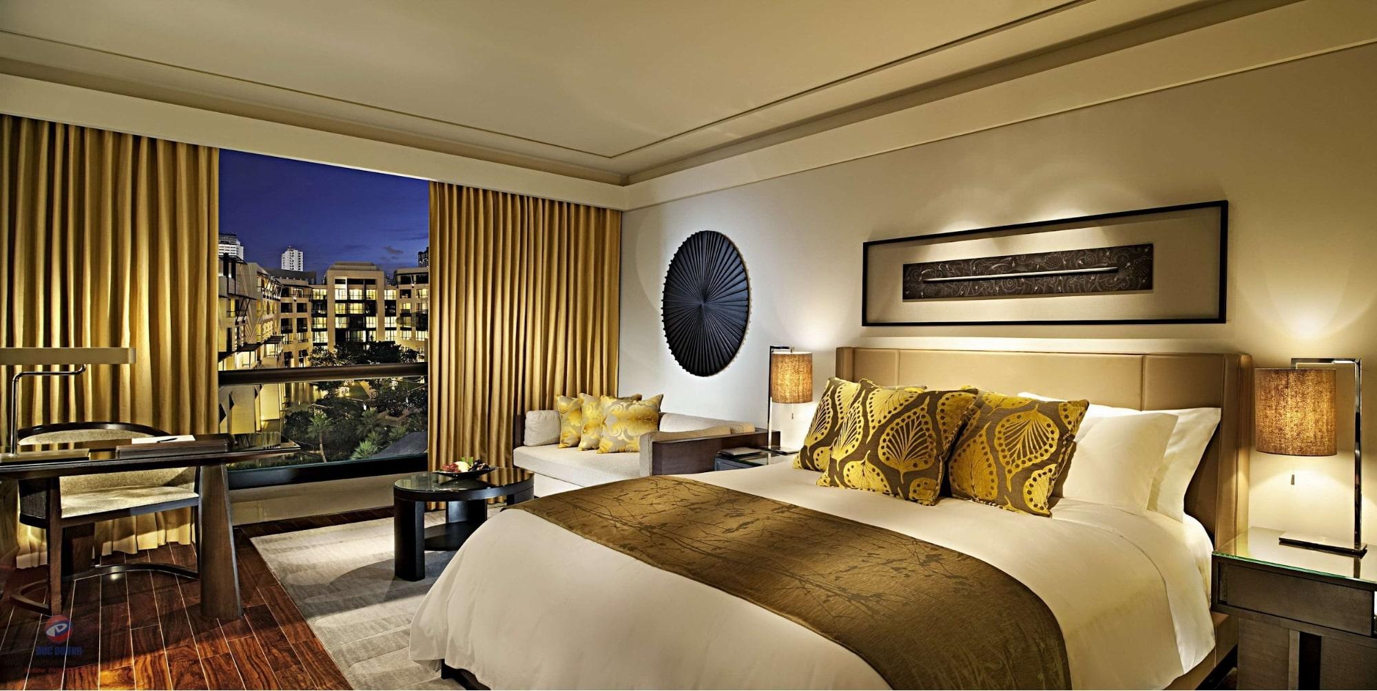 mẫu thiết kế nội thất khách sạn cho phòng ngủ