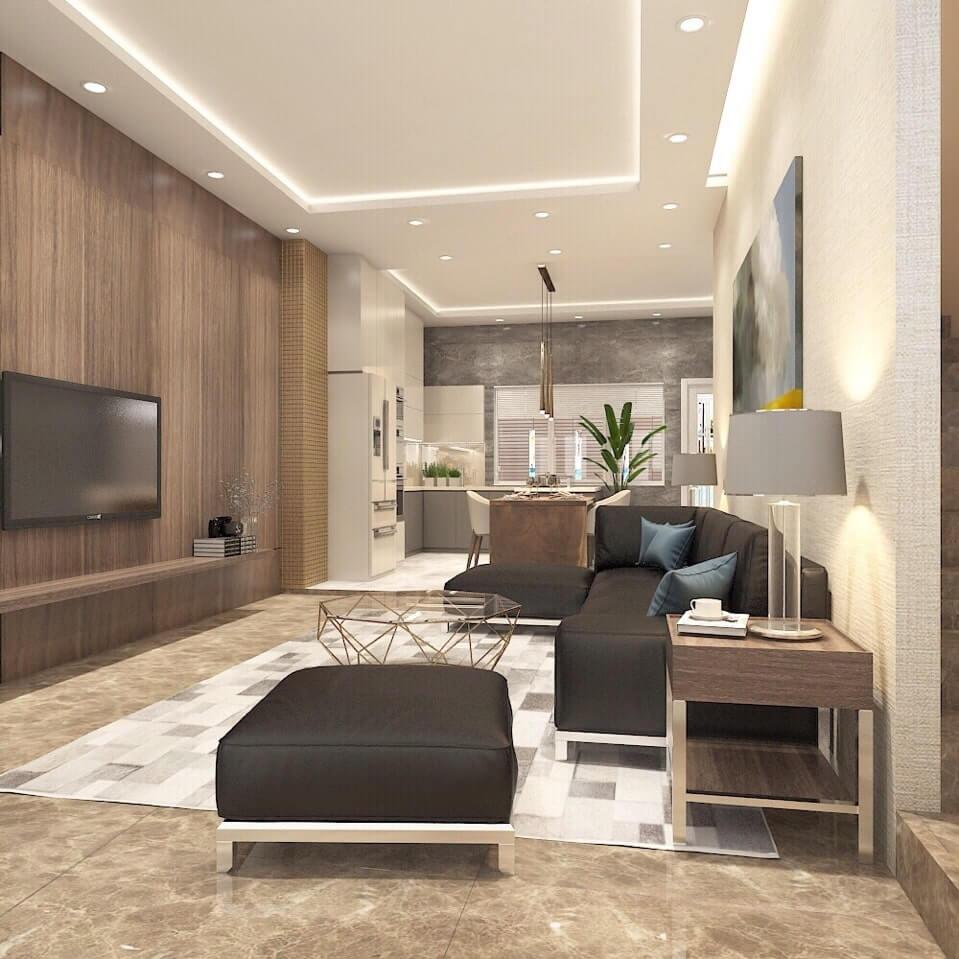 thiết kế nội thất Palm Heights 2 phòng ngủ tiện nghi