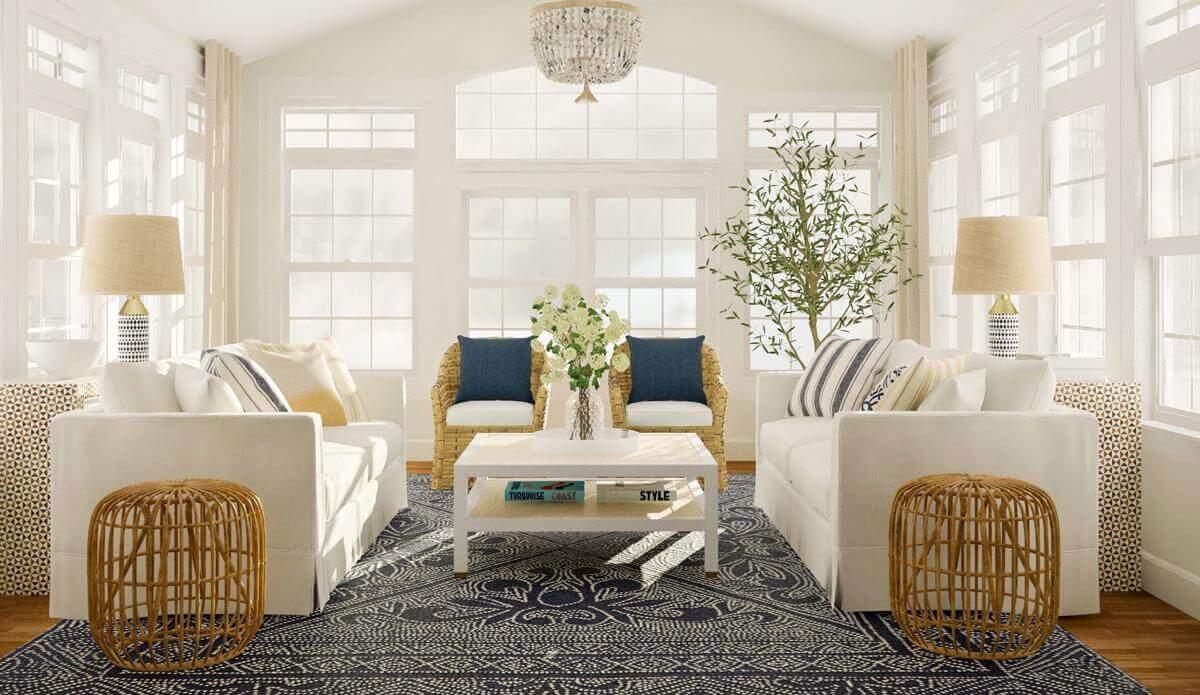 thiết kế nội thất phong cách bờ biển đẹp