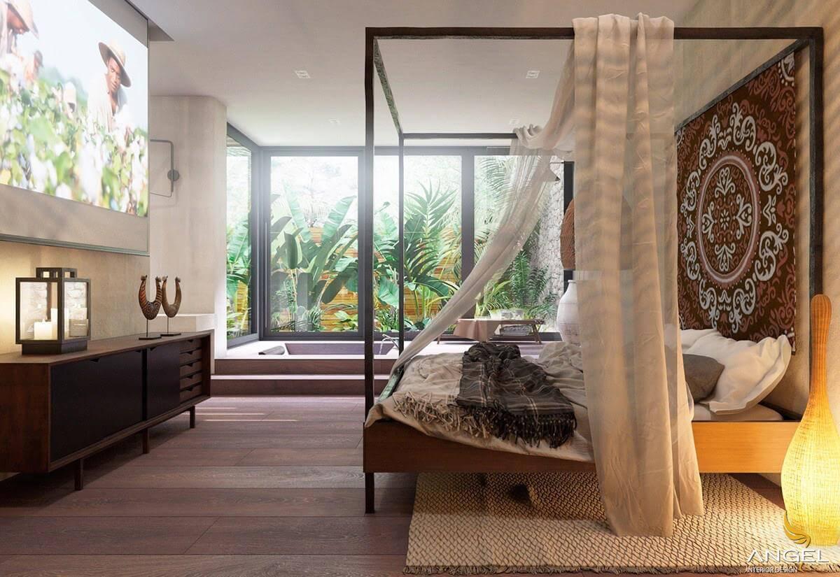 thiết kế nội thất phong cách tropical đẹp