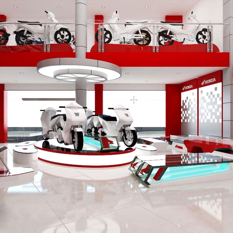 Thiết kế nội thất showroom hiện đại ở đâu