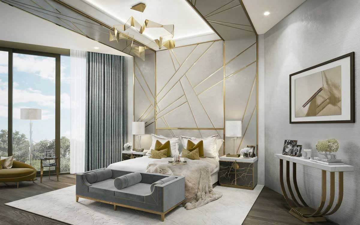 thiết kế phòng ngủ theo art deco style - Housedesign