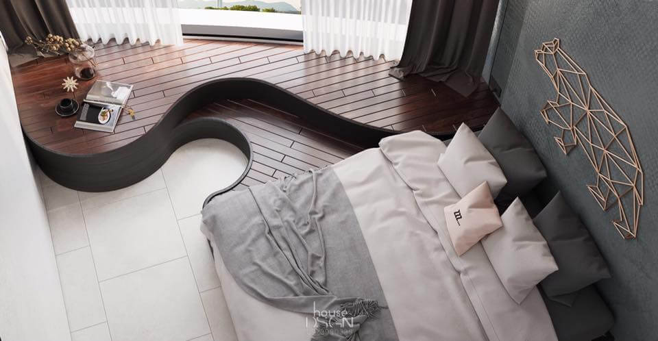 trang trí căn hộ 2 phòng ngủ hiện đại