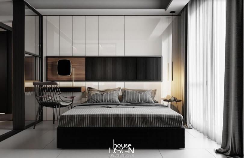 thiết kế nội thất căn hộ 52m2 tiện nghi
