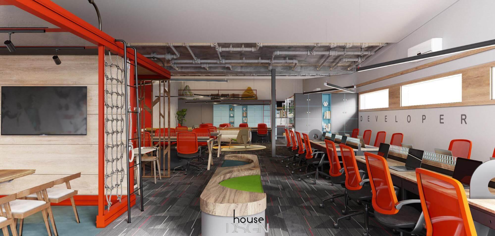 thi công và thiết kế nội thất văn phòng giá rẻ