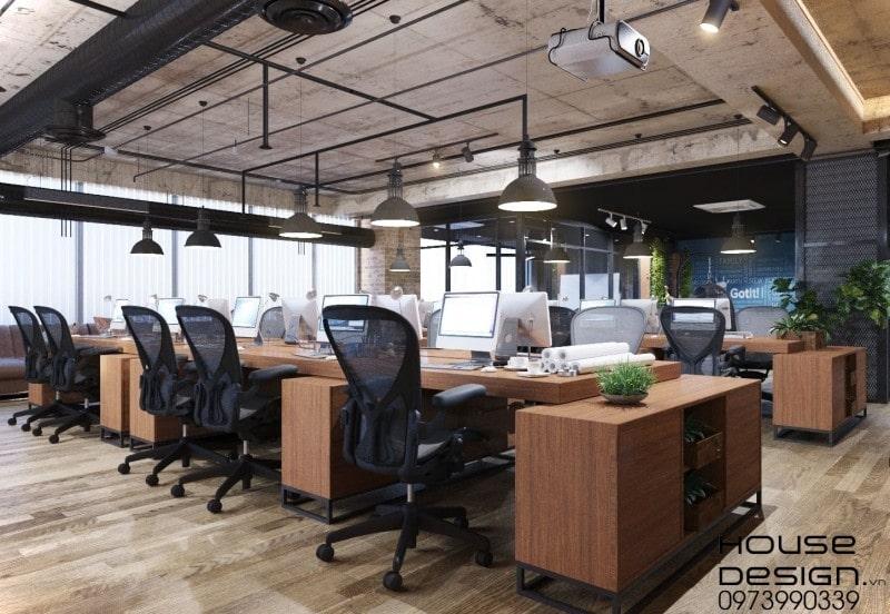 thông báo đơn giá thiết kế nội thất văn phòng