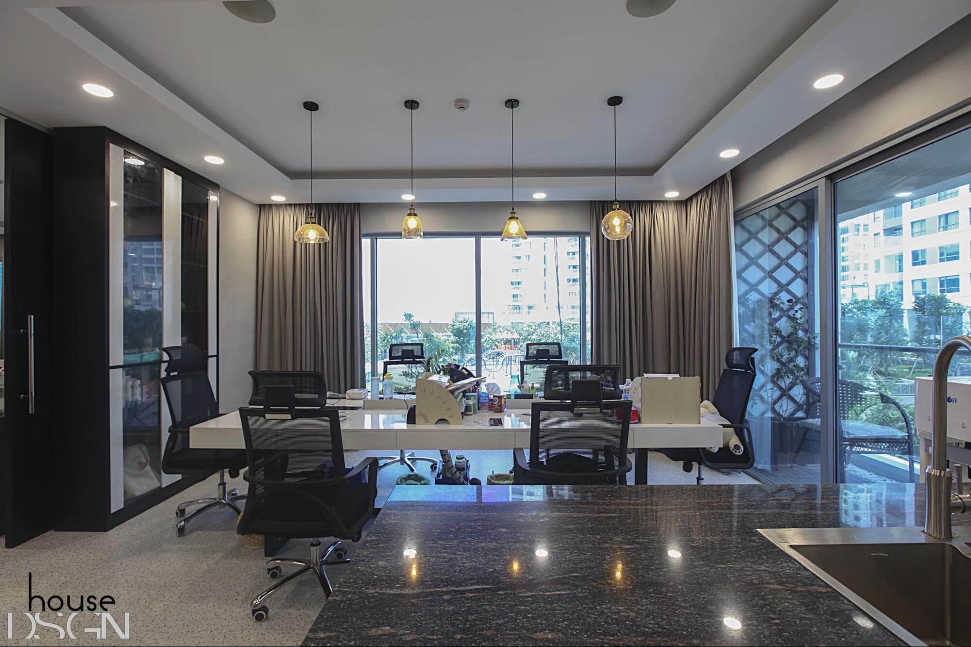 mẫu thiết kế nội thất hiện đại cho văn phòng