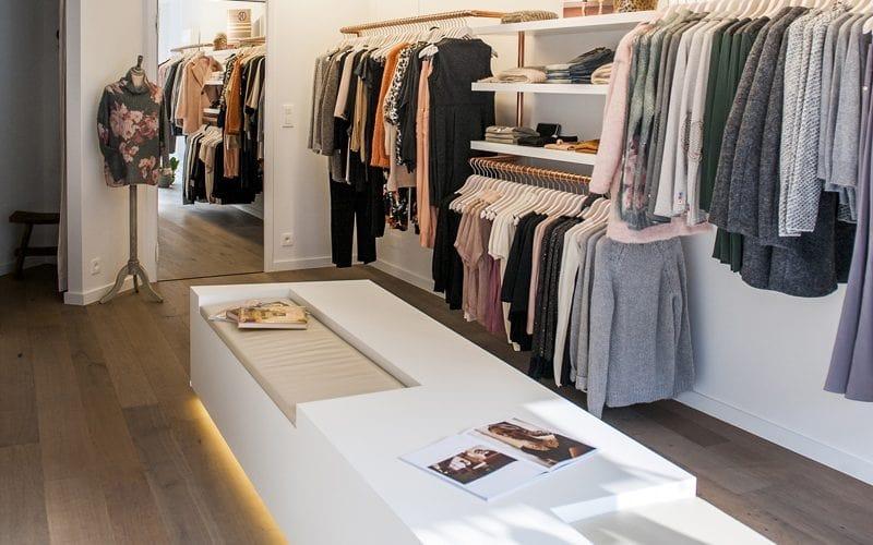 mẫu thiết kế nội thất shop quần áo đẹp