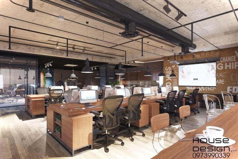 mẫu thiết kế và thi công văn phòng