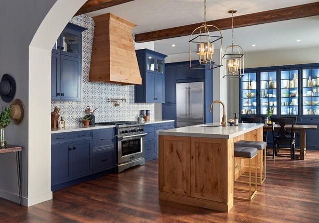 thiết kế bếp nội thất địa trung hải