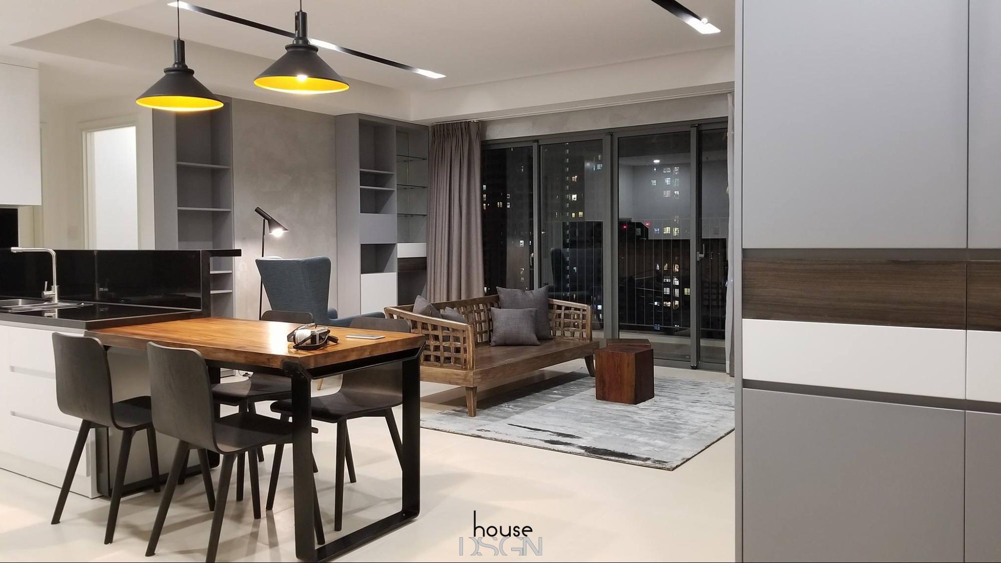 thiết kế không gian chung cư 45m2