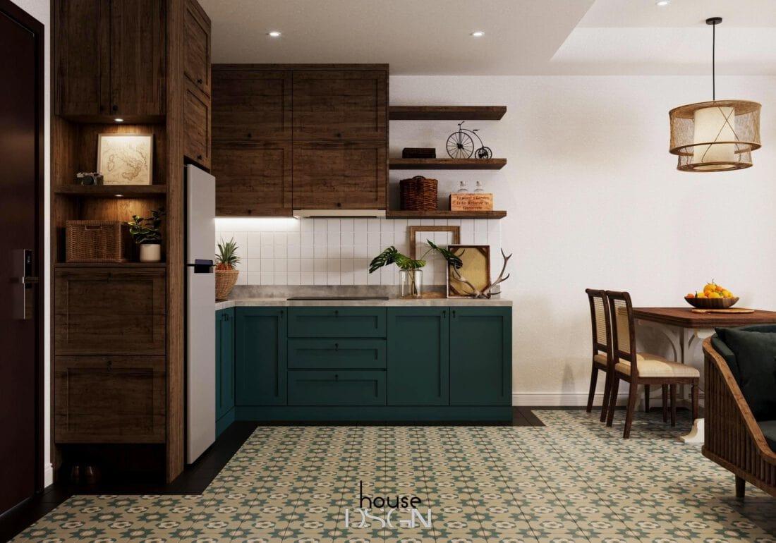mẫu không gian mở phòng khách và bếp đẹp