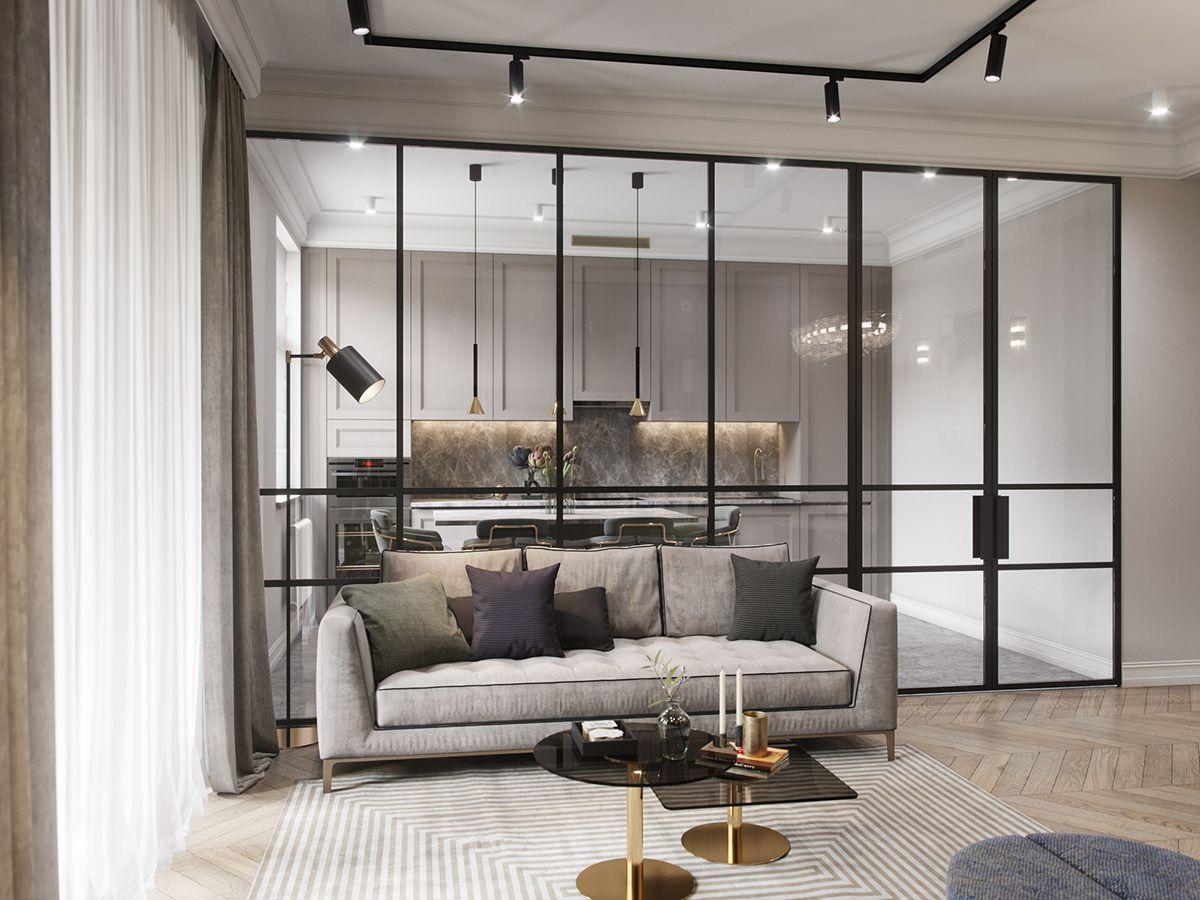 mẫu nội thất không gian mở ấn tượng