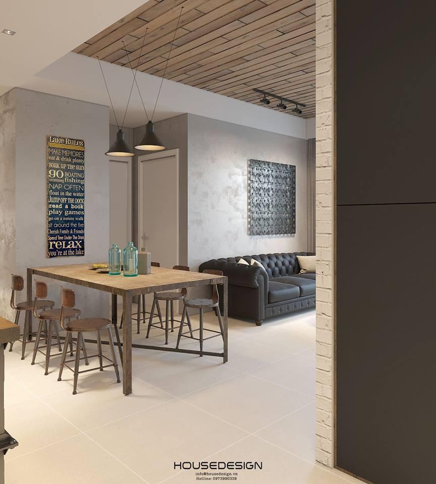mẫu thiết kế căn hộ chung cư 45m2 mới nhất