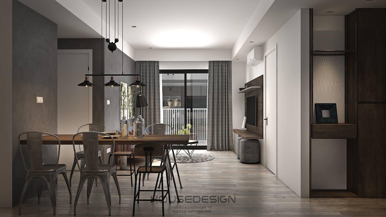 mẫu thiết kế nội thất cho căn hộ chung cư 45m2 cho năm mới