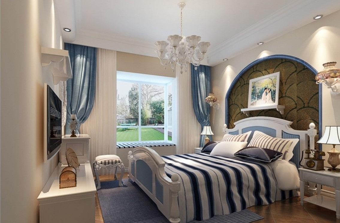 Mediterranean Revival Bedroom Sample