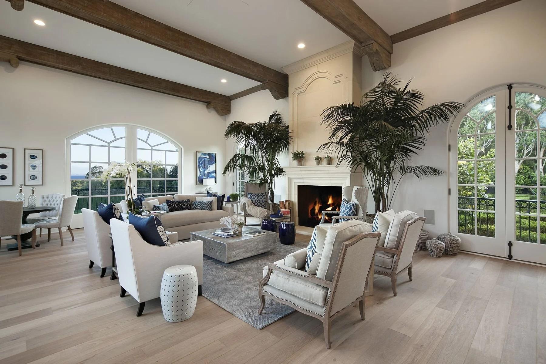 thiết kế nội thất địa trung hải cho phòng khách