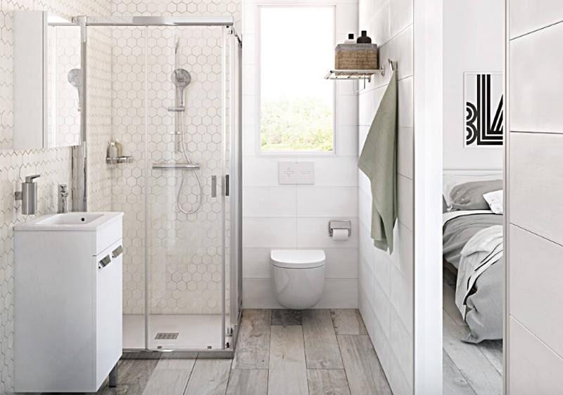thiết kế phòng tắm chung cư 45m2