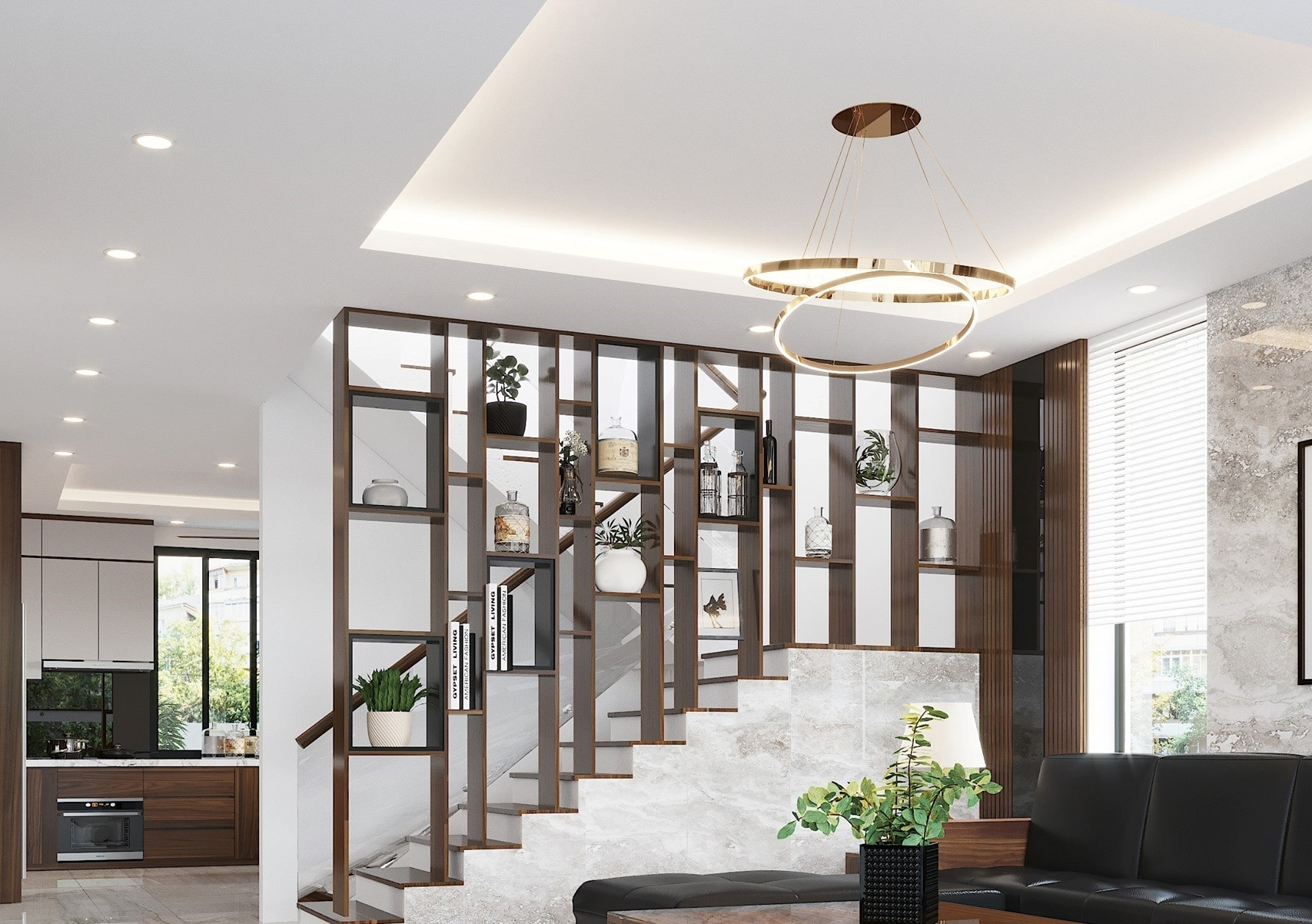 mẫu thiết kế nhà theo không gian mở