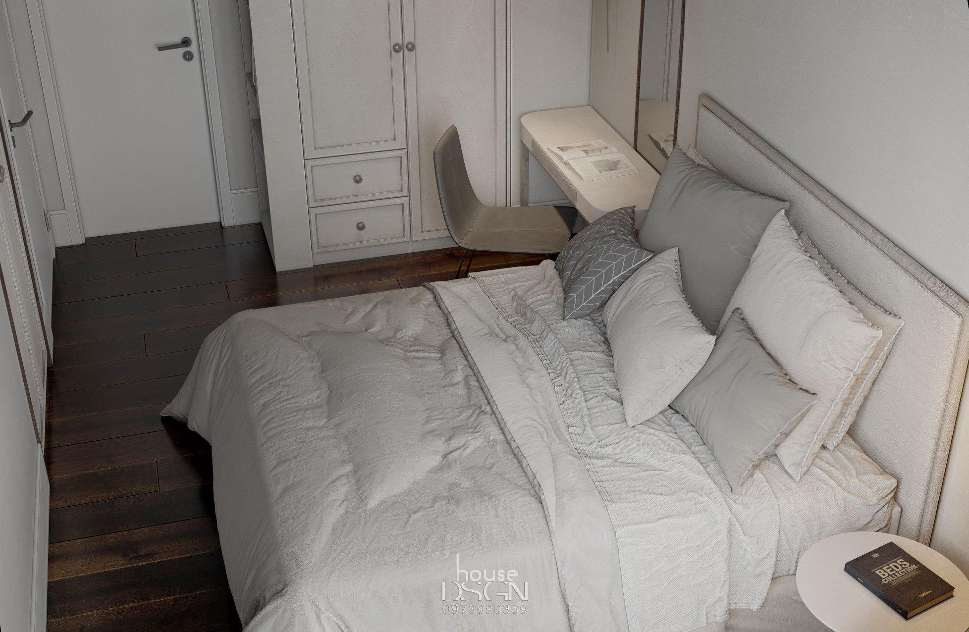 thiết kế tông màu cho phòng ngủ đơn giản