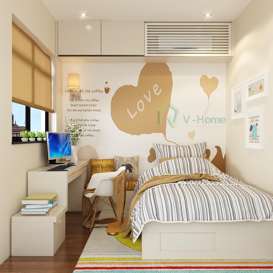 trang trí phòng ngủ tiện nghi cho căn hộ