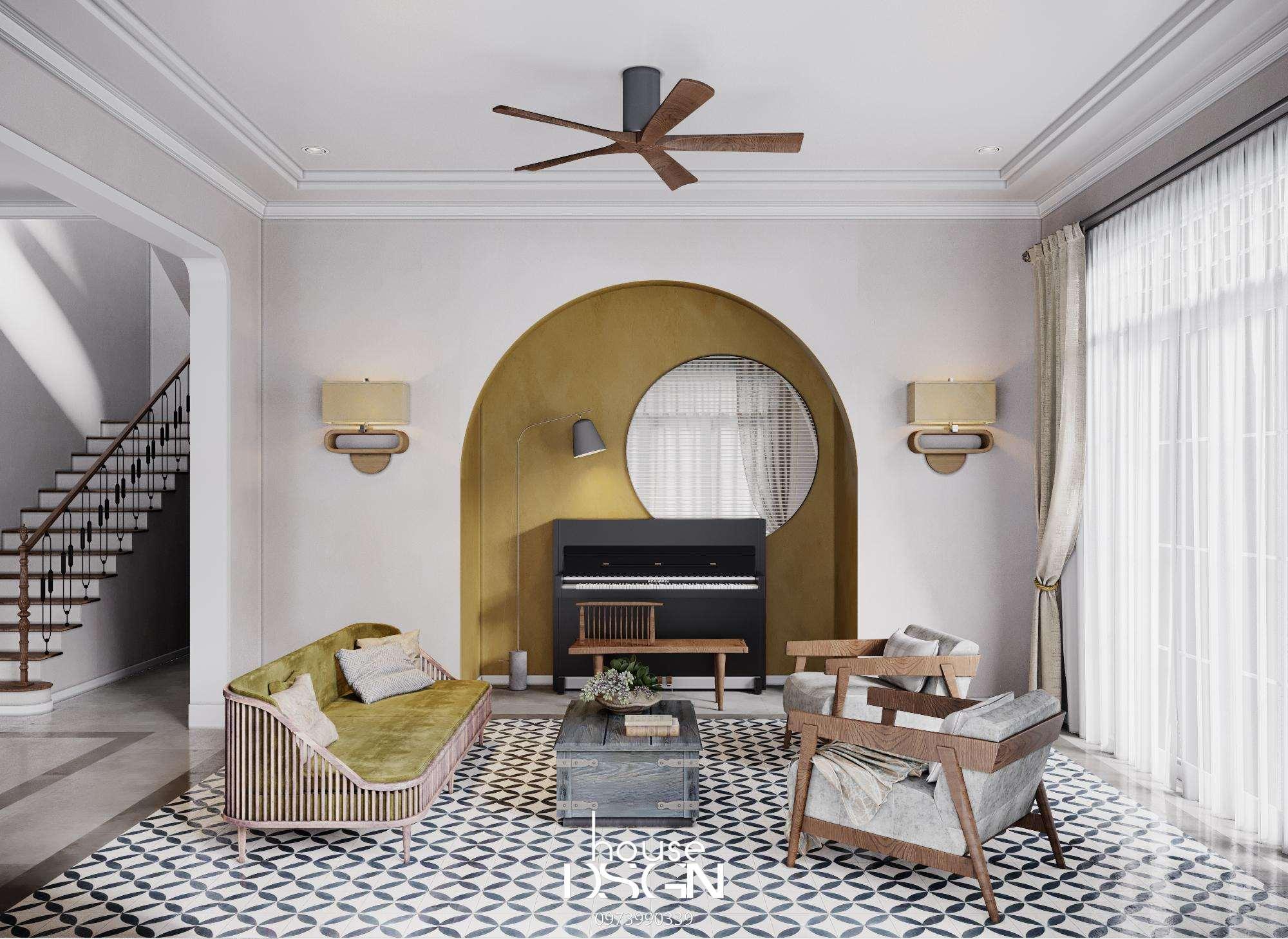 bản vẽ thiết kế nội thất phòng khách 25m2 - Housedesign