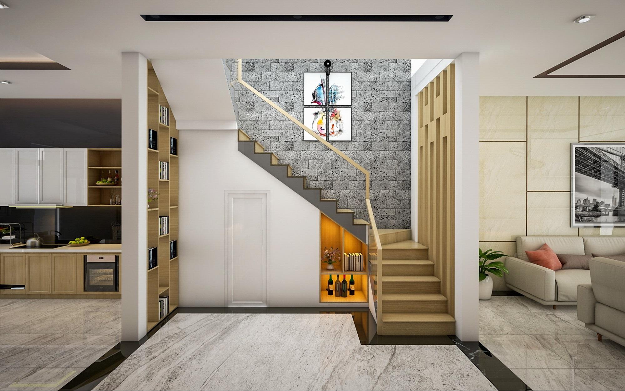 cách thiết kế phòng khách có cầu thang - Housedesign