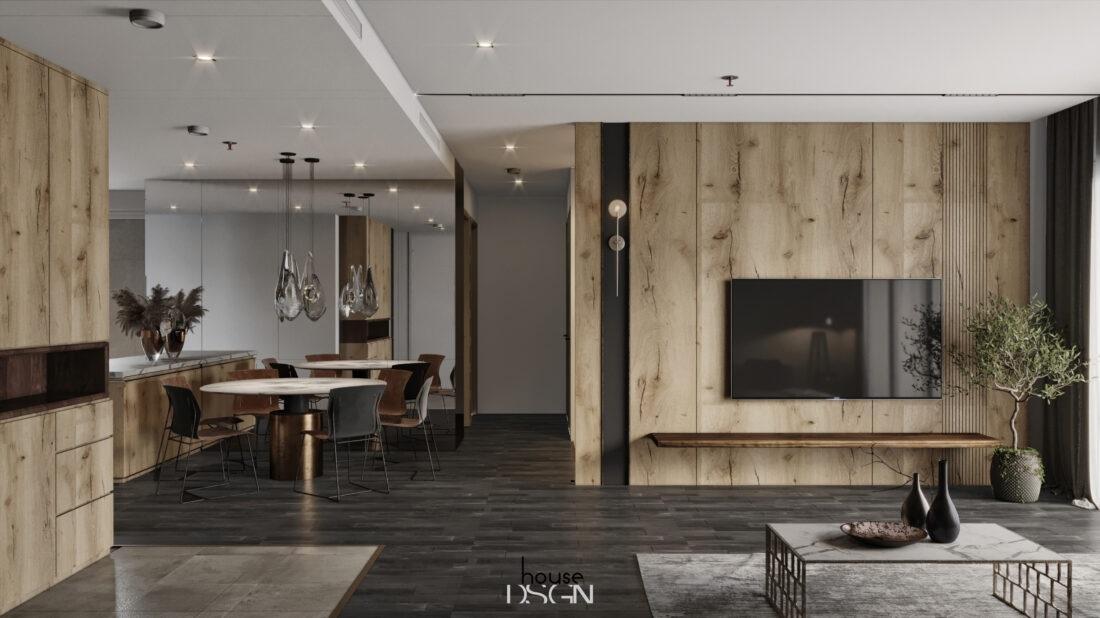 kích thước kệ tivi phòng khách - Housedesign
