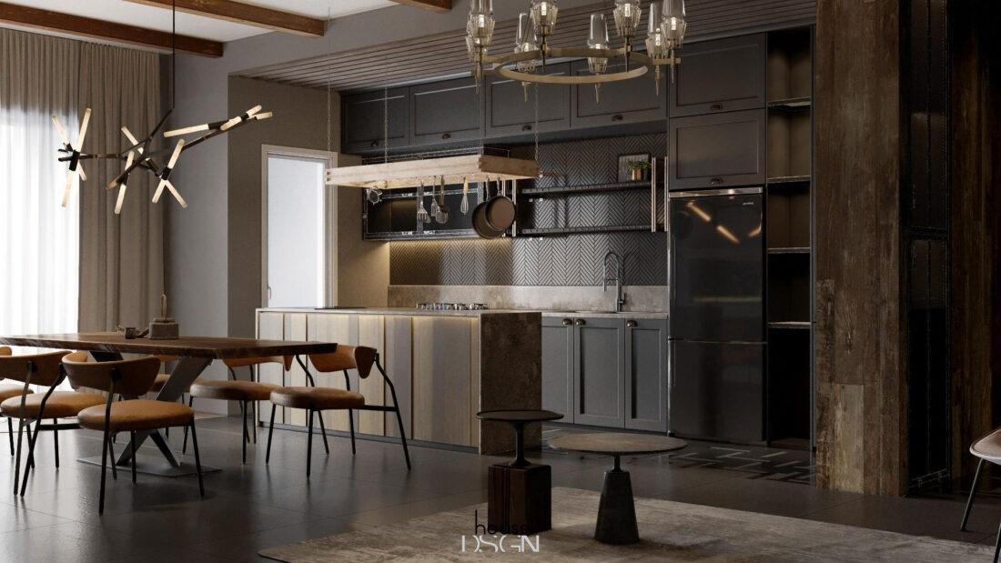 kích thước tủ bếp treo tường - Housedesign
