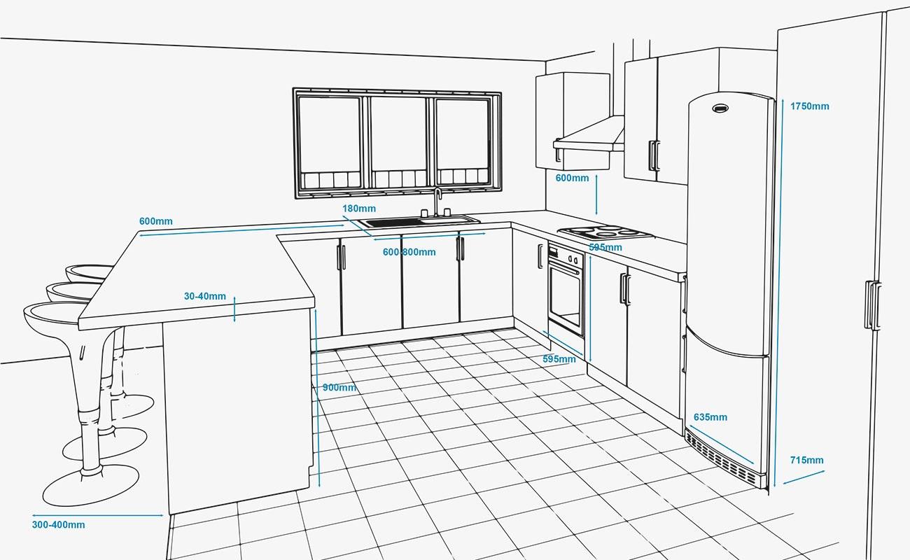 kích thước tủ bếp - Housedesign