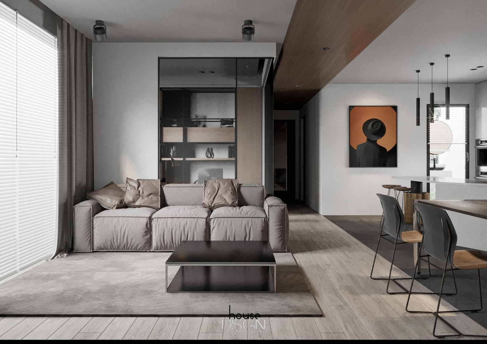mẫu chung cư có phòng khách đẹp