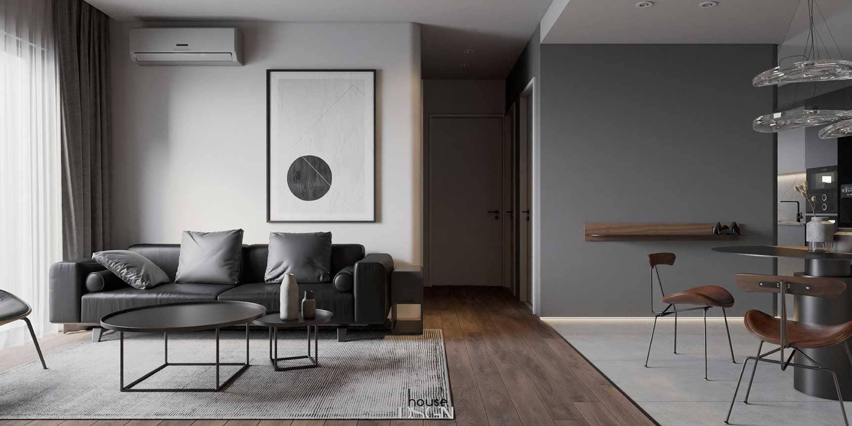 nội thất chung cư phòng khách - Housedesign
