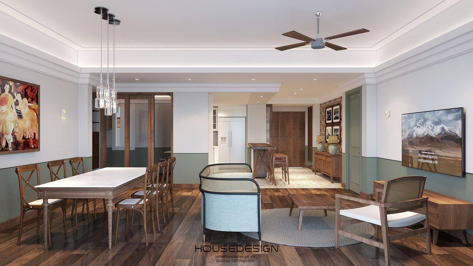 nội thất chung cư phòng khách thông minh