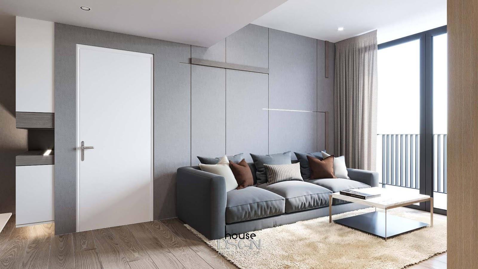 nội thất chung cư phòng khách tiện lợi