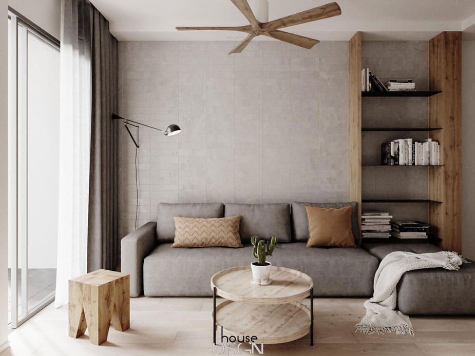 nội thất phòng khách tiện lợi - Housedesign