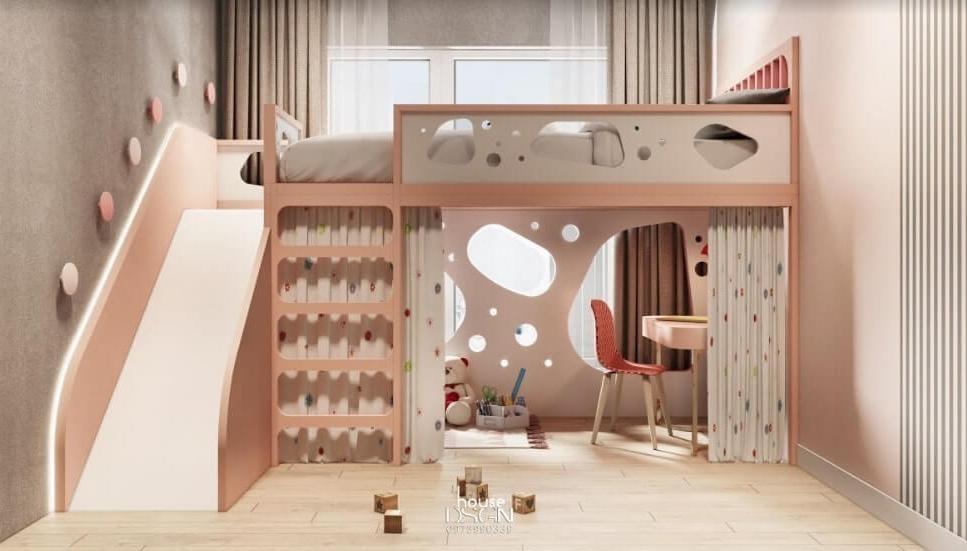 thiết kế phòng ngủ đẹp cho bé gái - Housedesign
