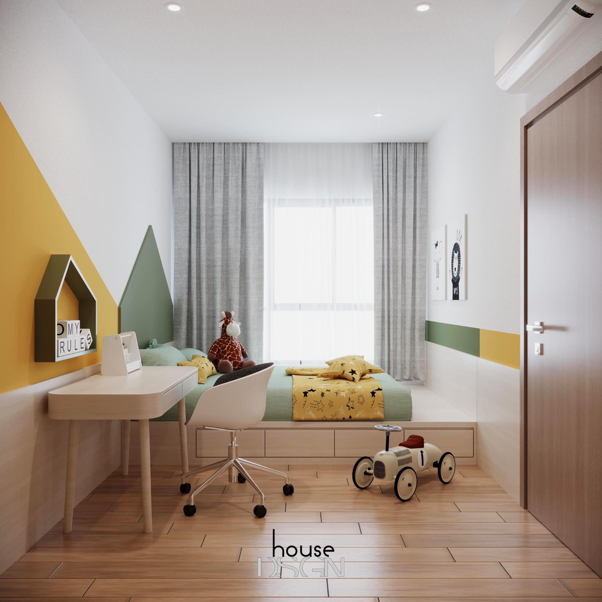 thiết kế nội thất phòng ngủ sang trọng cho bé trai - Housedesign