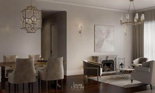 phòng khách liền phòng bếp - Housedesign