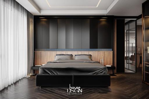 phòng ngủ khách sạn chất liệu gỗ