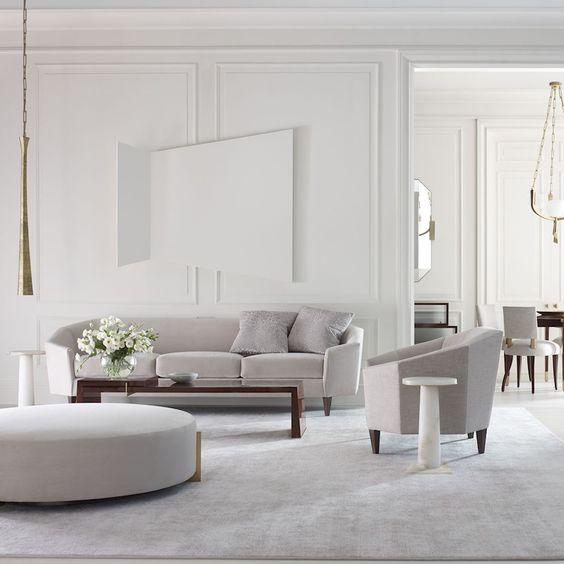 thiết kế nội thất phòng khách 25m2 tone màu sáng - Housedesign