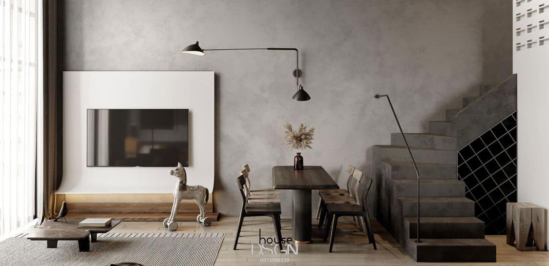 thiết kế nội thất phòng khách chung cư - Housedesign