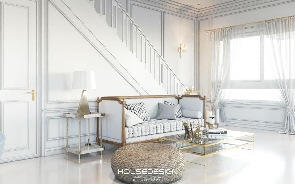 thiết kế phòng khách có cầu thang đẹp - Housedesign